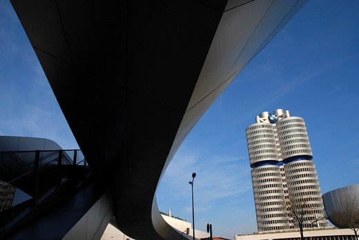 Stock Photo: 1566-736586 BMW car factory in Munich