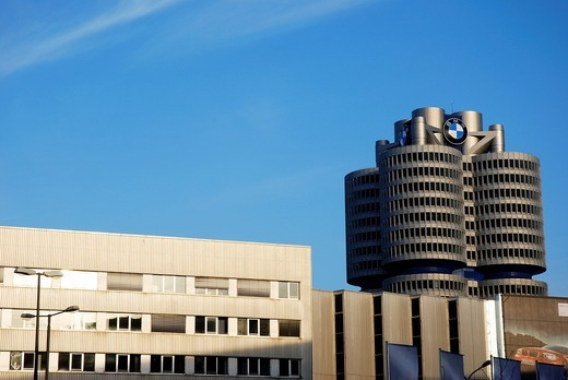 Stock Photo: 1566-736591 BMW car factory in Munich