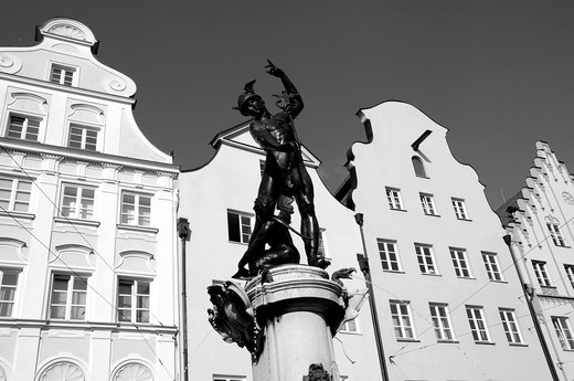 Stock Photo: 1566-736660 Mercury Fountain in Augsburg