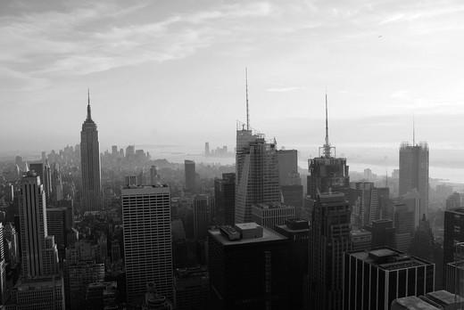 Stock Photo: 1566-736713 View from Rockefeller Center in Manhattan