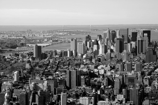 Stock Photo: 1566-736780 View to the Houses of Manhattan