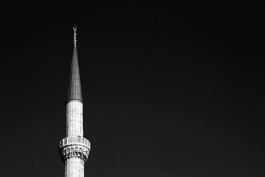 Minaret of Blue Mosque in Istanbul : Stock Photo