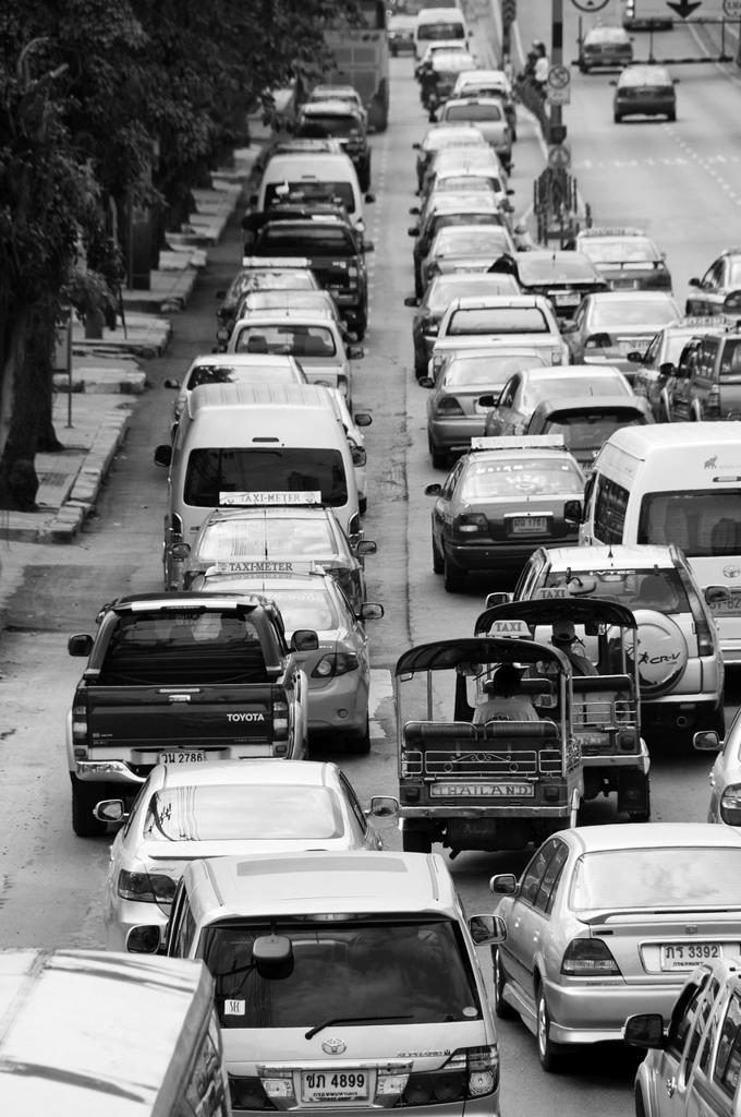 Traffic Jam in Bangkok : Stock Photo