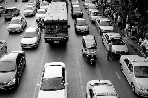 Stock Photo: 1566-736882 Traffic Jam in Bangkok