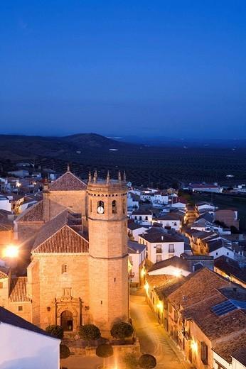 Iglesia de San Mateo, Baños de la Encina, Jaen Province, Andalusia, Spain : Stock Photo