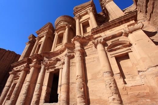El Deir ´The Monastery´ in Petra Jordan : Stock Photo