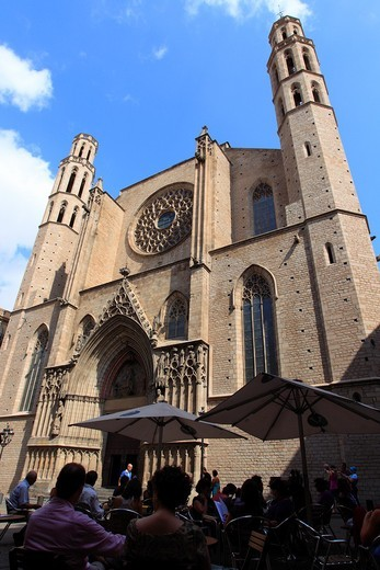Santa Maria del Mar church. Barcelona. Spain. : Stock Photo