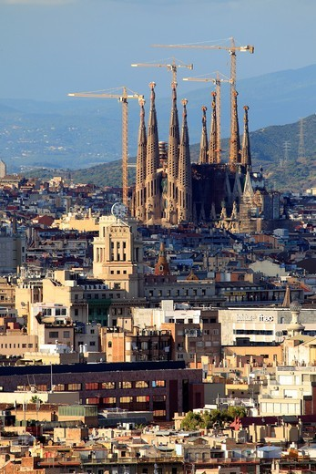 Aerial view of Barcelona : Stock Photo