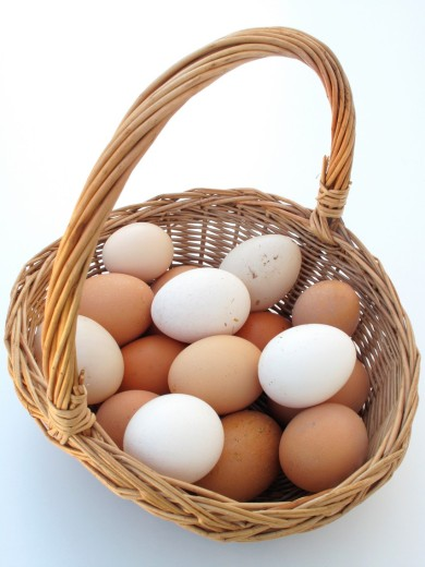 Egg basket : Stock Photo