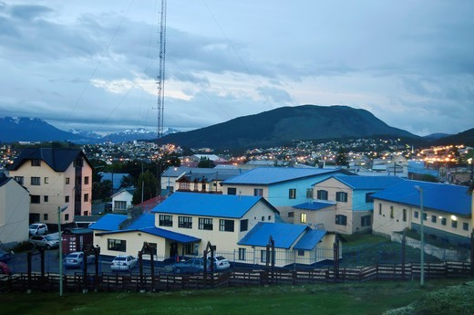 Stock Photo: 1566-739476 View of the city of Ushuaia, Argentina
