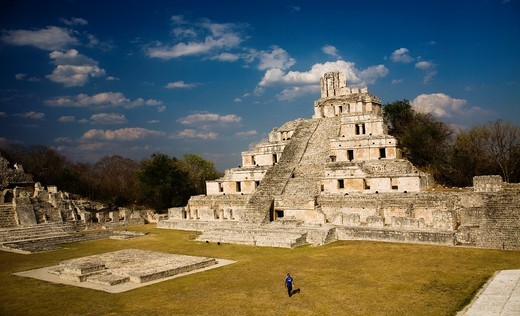 Edzná Archaeological Site, Yucatan Peninsula, Mexico : Stock Photo