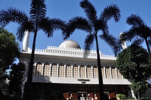 Stock Photo: 1566-740167 Hong Kong: mosque along Nathan Road, in Tsim Sha Tsui