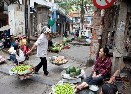 Stock Photo: 1566-741606 Old Quarters, Hanoi