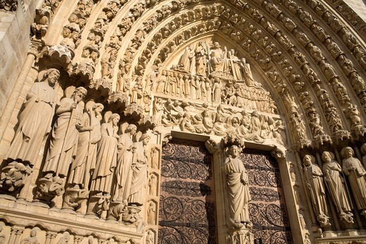 Detail of Notre Dame Cathedral  Paris  Fracne : Stock Photo