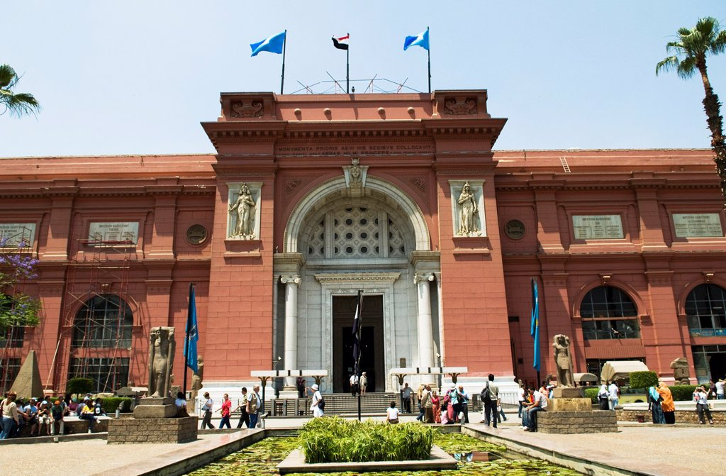 The Egyptian Museum in Cairo is one of the main tourist attractions in Egypt. : Stock Photo