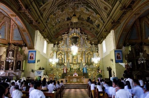 Stock Photo: 1566-743208 st michael archangel church, argao, cebu, philippines