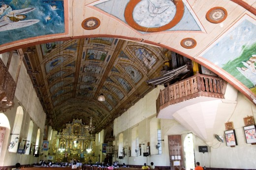 Stock Photo: 1566-743209 st michael archangel church, argao, cebu, philippines