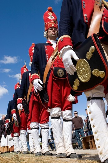 Soldiers participating in the ´Celebration of the Battle of Almansa 2009´ : Stock Photo