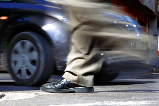 Pedestrians at risk : Stock Photo
