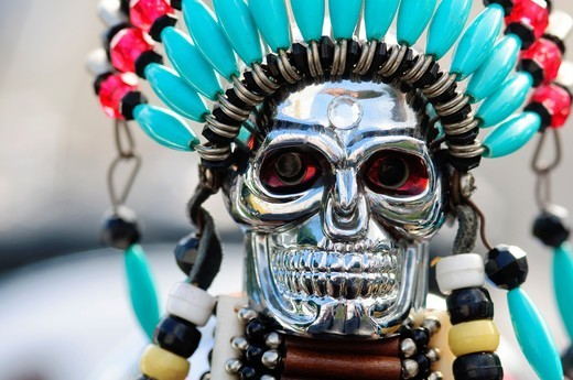 Skull Close up, Detail of Motorcycle : Stock Photo