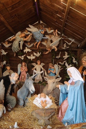 Italy, Lombardy, Crema, Sabbioni Christmas Crib : Stock Photo