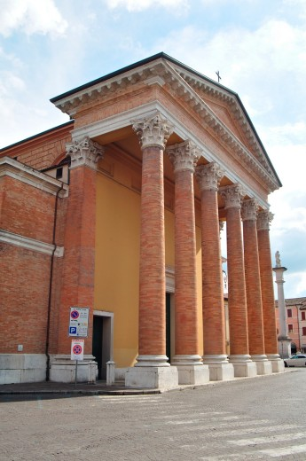 Italy, Emilia Romagna, Forlì, Santa Croce Cathedral : Stock Photo