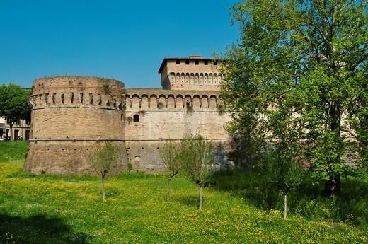 Stock Photo: 1566-743831 Italy, Emilia Romagna, Forlì, Rocca di Ravaldino, Castle