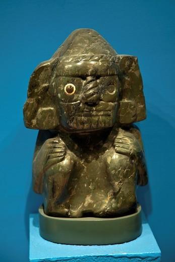 Prehispanic stone objects at Templo Mayor Museum, Mexico City : Stock Photo