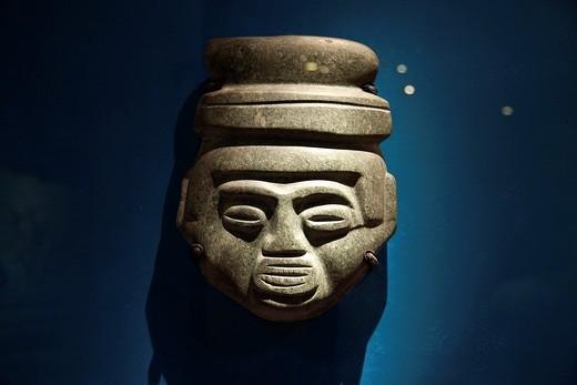 Stock Photo: 1566-744126 Prehispanic stone objects at Templo Mayor Museum, Mexico City