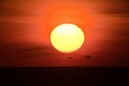 The Sun at Costa Alegre, Mexico : Stock Photo