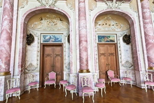 Stock Photo: 1566-744828 The great ballroom of the Bueckeburg castle, Lower Saxony, Germany, Europe
