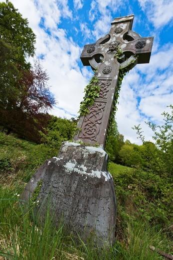 Graveyard at Muckross Abbey, County Kerry, Ireland, Europe : Stock Photo