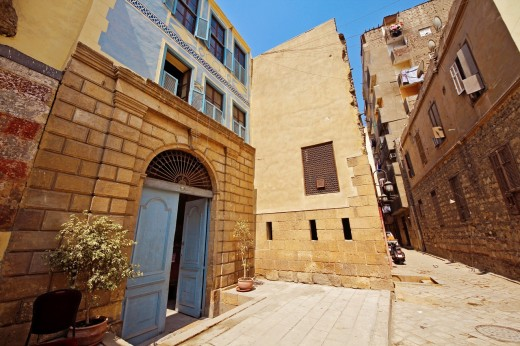 Bait el-harawi and Beyt el-Set wasela, Cairo Islamic houses, Cairo, Egypt : Stock Photo