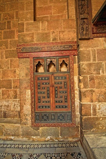 Stock Photo: 1566-745353 Islamic decoration and mosaic at Bait el-harawi, an Arabic house, City of Cairo, Egypt