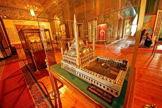 Makete sample of Mohammad Ali Mosque in military museum, City of Cairo, Egypt : Stock Photo