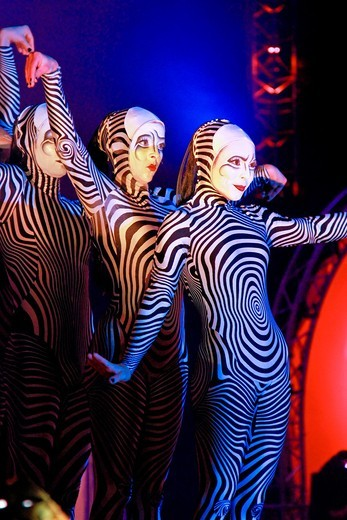 Premiere in Kuwait of the new Cirque du Soleil Show. November 2010 : Stock Photo