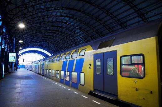Stock Photo: 1566-745549 Train Station. Haarlem, Netherlands.