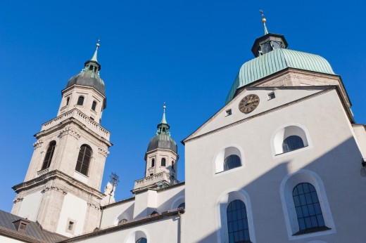 Stock Photo: 1566-745754 Jesuitenkirche, Jesuit Church, University Church, Innsbruck, Tyrol, Austria.