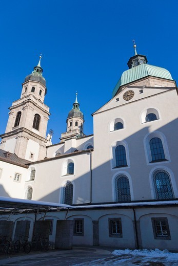 Stock Photo: 1566-745755 Jesuitenkirche, Jesuit Church, University Church, Innsbruck, Tyrol, Austria.