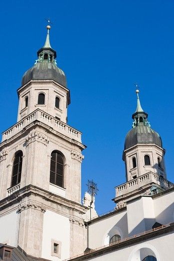 Jesuitenkirche, Jesuit Church, University Church, Innsbruck, Tyrol, Austria. : Stock Photo