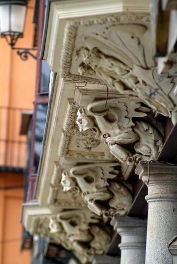 Zocodover Square, Toledo, Castilla La Mancha, Spain : Stock Photo