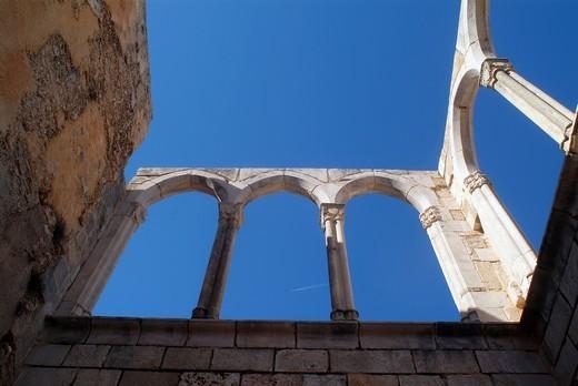 Monasterio de Santa Maria de la Valldigna, Monastery of Simat de la Valldigna, Simat de Valldigna, Valencia, Spain : Stock Photo