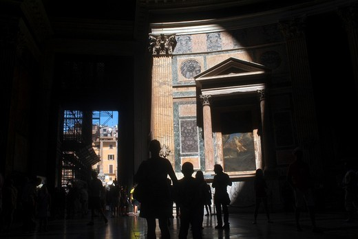 Beam of light in the Pantheon, Rome, Italy : Stock Photo