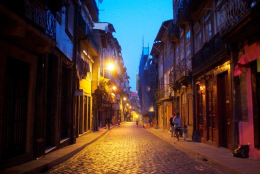 walk through the historic district of Porto, Portugal, Europe : Stock Photo