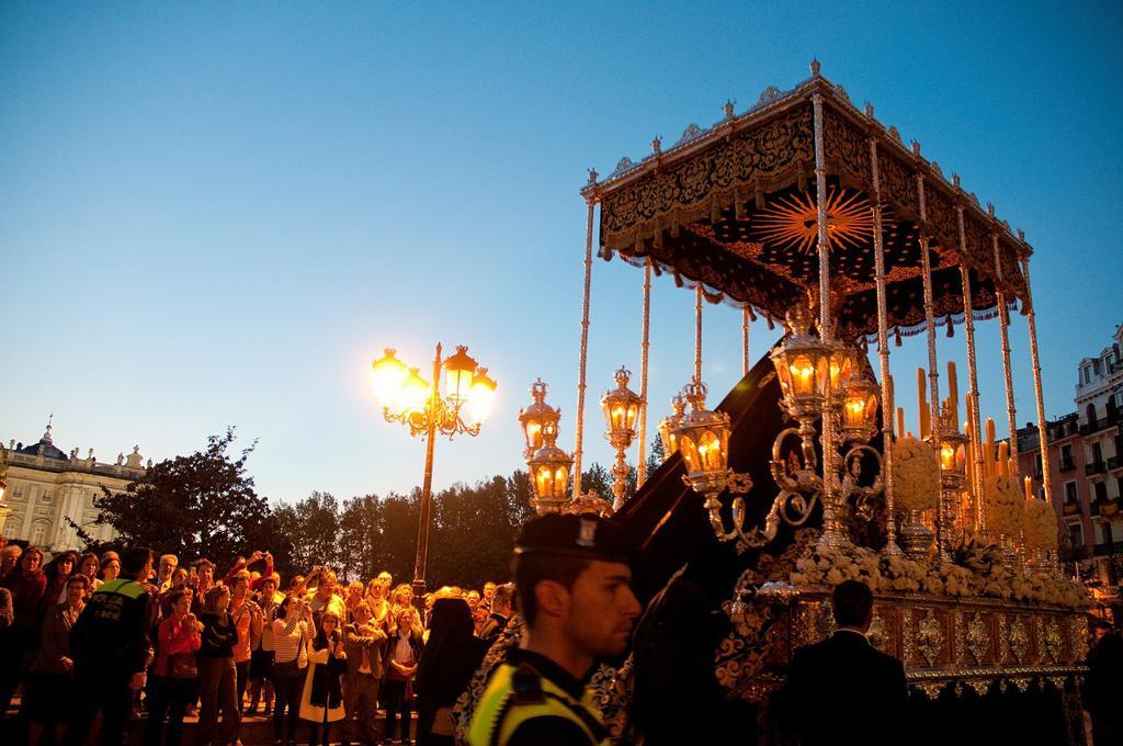 María Santísima Inmaculada procession, Plaza de Oriente. Madrid, Spain. : Stock Photo
