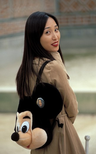 Young woman, Seoul, South Korea : Stock Photo