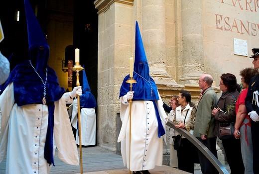 -Holy Week in Alicante- Valencian Comunity, Spain. : Stock Photo