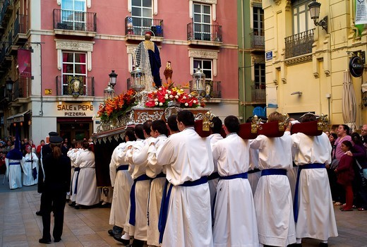 -Holy Week in Alicante- Valencian Comunity, Spain. : Stock Photo