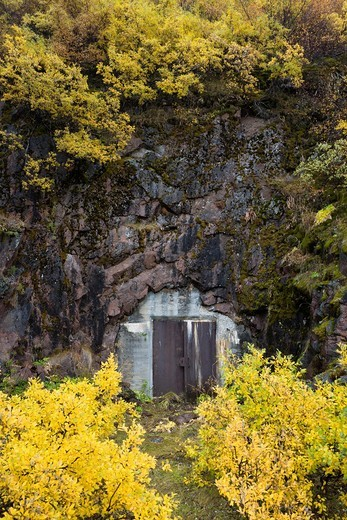 Stock Photo: 1566-749712 World war II bomb shelter, Narsarsuaq, South Greenland