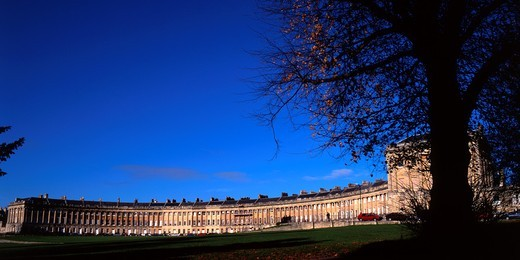 Stock Photo: 1566-751596 Royal Crescent, Bath, Somerset, England
